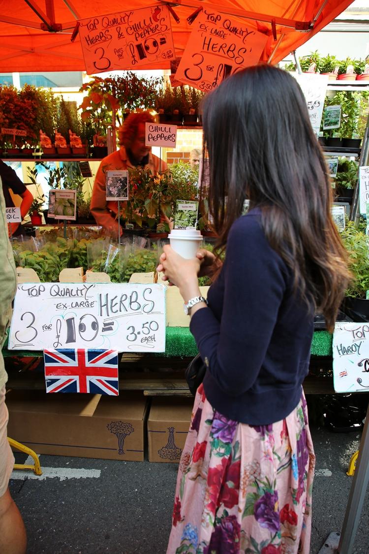 ロンドン フラワーマーケット