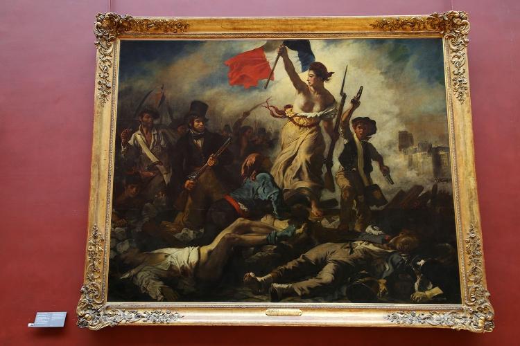 パリ ルーブル美術館 ドラクロワ