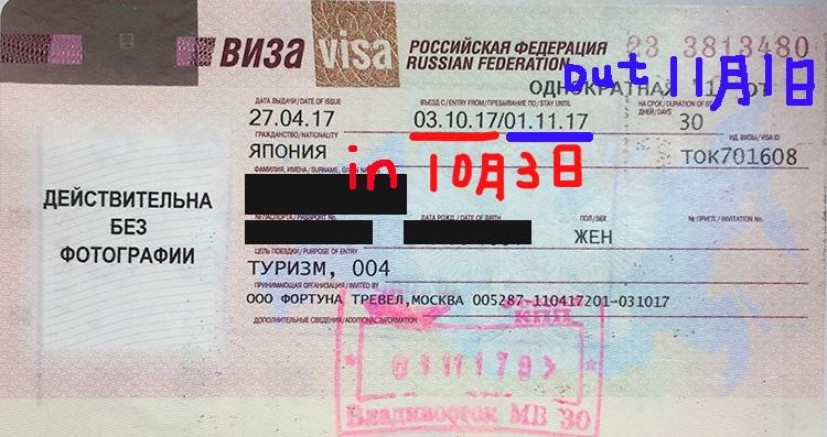 ロシアビザ取得 パスポート