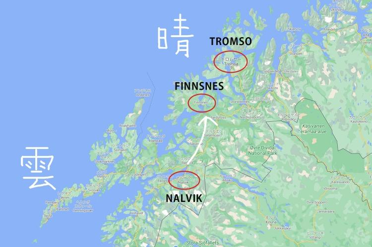 トロムソ 地図 ノルウェー