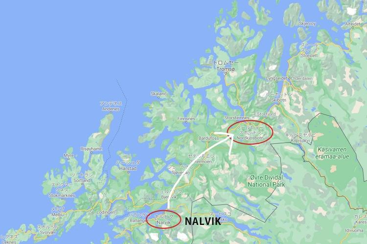 フィンネス 地図 ノルウェー
