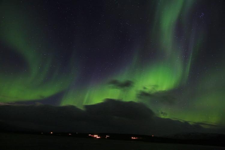 オーロラ爆発 スウェーデン アビスコ