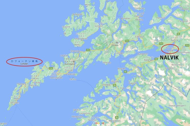 ロフォーテン諸島 地図