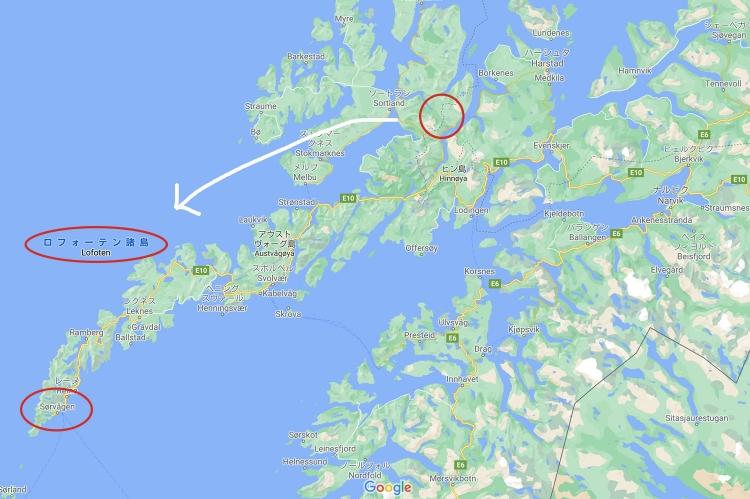 ノルウェー 地図 レンタカー