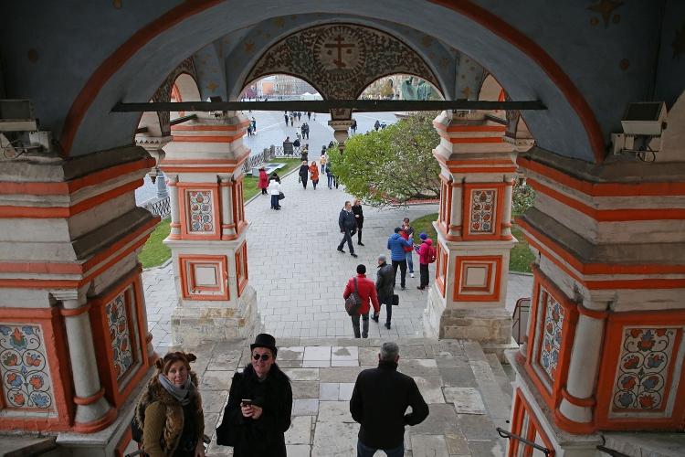 モスクワ 赤の広場 ワシリー寺院