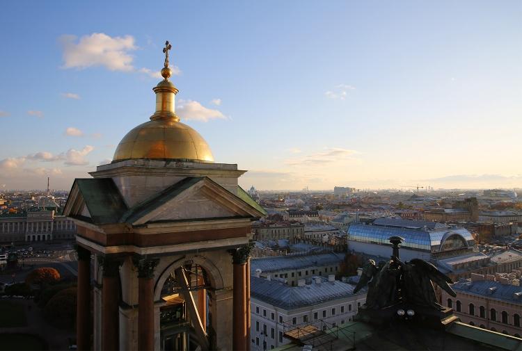 サンクトペテルブルク イサク聖堂 展望台