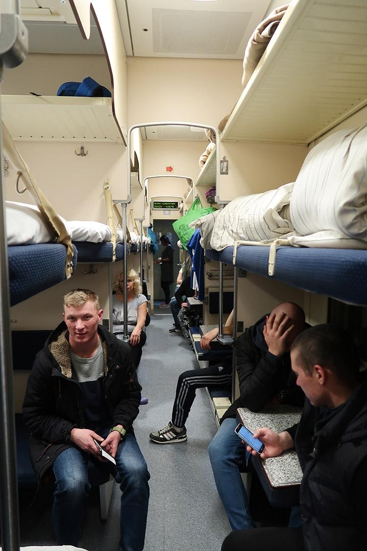 シベリア鉄道 列車の中 三等車